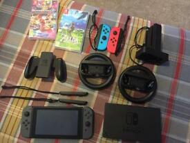 """ON RESERVE"" Nintendo switch+loads of extras"