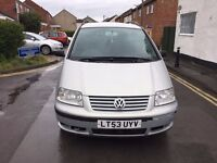 "2003 (53) VOLKSWAGEN SHARAN 1.9 SE TDi (RED ""I"") 6 SPEED 7 SEATER A/C S/H MOT 17/04/18 GOOD DRIVE"