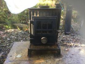 5kw log burner with flu pipe