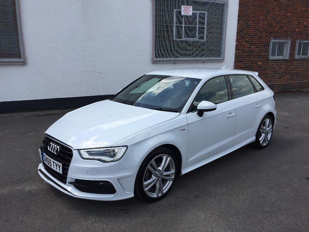 2015 65 audi a3 s line 2 0 tdi s auto 5 door white damaged salvage repairable in leyton. Black Bedroom Furniture Sets. Home Design Ideas