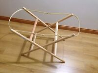 Moses basket folding stand. Immaculate condition. From a pet and smoke free home.