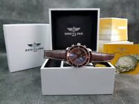 New boxed with papers brown peather bracelet brown dial brown bezel Breitling Superocean watch sweep