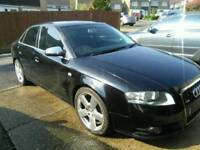 Audi A4, S Line, tdi 140, 2006 saloon black spares or repairs.