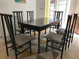 Italian dining table with chairs