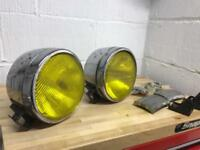 Pick up truck recovery truck shogun mitsubishi spot lamps yellow chrome