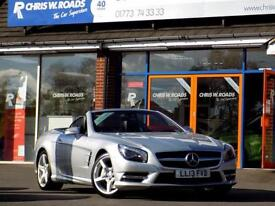 MERCEDES-BENZ SL 3.5 SL350 2dr 306 BHP * Sat Nav * ** Leather + Pan (silver) 2013