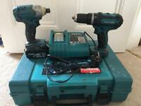 Makita hammer drill & impact driver kit