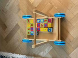 Wooden toy trolly