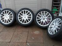 VW JETTA ALLOYS AND TYRES 225/45/R17 X4