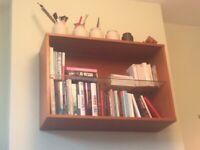 Mid-century Teak Floating Shelves Display Bookcase - Tapley