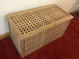 IKEA Hol Wooden Storage Box Table Unit