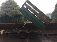 High line tipper trailer, 9'x6'