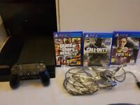 Sony Playstation 4 (PS4) 500GB with 3 Games and 1 Controller