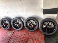 Mazda mx5 enkei Alloys 4x100. 205/45/16 NS-2R tyres.