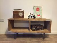 Unique hand made industrial style tv cabinet/media unit - different sizes upon request