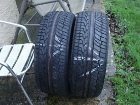 Two New 255/55/R19 Extra Load Rated New Tyres, Fits Land Rover Discovery And Others.