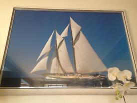 Large 95 x 32 cm Sailboat Framed Print