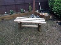 1200mm TIMBER BENCH - delivered - oiled in Natural Oak