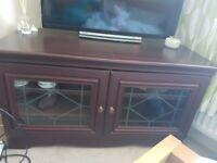 CORNER TV CABINET. GLASS DOORS