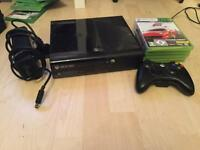 500GB Xbox 360 E with games and cable