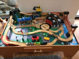 Wooden able train track