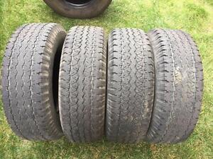 4 Goodyear Wrangler RT/S - 255/70/16 - 50-60% - $100 For All 4