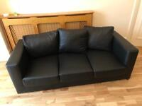 3 seat leather sofa. Extremely reduced price after only a year of use!