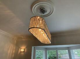 Wall and ceiling crystal lights