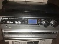 HI FI STEREO WITH RECORD PLAYER AND CD RECORDING