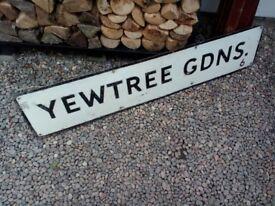 vintage road sign