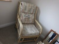 Two Cane Armchairs. Suitable conservatory. Excellant condition.