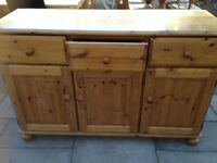 3 DOOR 3 DRAWER PINE SIDEBOARD GOOD