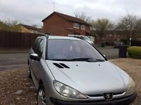Peugeot 206 sw silver very good condition