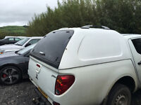 mitsubishi l200 canopy 2006 onwards in white carpeted inside very good condition with 2 keys £300