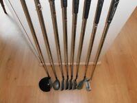 HALF SET of Golf Clubs. -- 10.5 deg.Driver - 4/5 fairway wood - 5 irons & Putter.