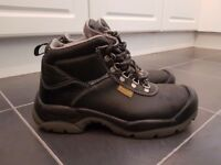 Mens steel toe cap work boots size 7