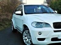 STUNNING WHITE (2009) BMW X5 XDRIVE 30D M SPORT - CAMERA /SAT NAV -HEAT LEATHER- FINANCE AVAILABLE
