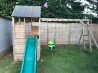 Children's Wooden climbing frame made by dubstep house