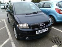 STUNNING 2003 AUDI A2 SE 1.4 DIESEL 1YR MOT CHEAP TO RUN £30 ROAD TAX NO ISSUES DRIVES BEAUTIFULLY