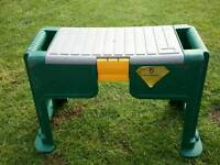 Garden stool with tool box