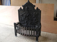 Cast iron open Fire Grate/basket and Back