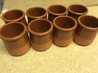 8 small dessert pots (Creme Caramel or Syllabub)