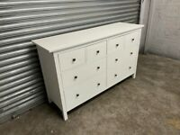 FREE DELIVERY IKEA HEMNES WHITE STAIN CHEST OF EIGHT DRAWERS GOOD CONDITION