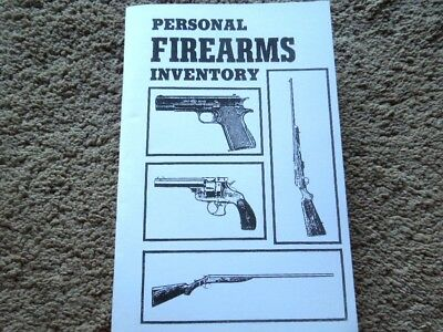 Personal Firearms Inventory Record Keeping Log book 52 (Inventory Record)
