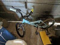 4 wheel blue bike