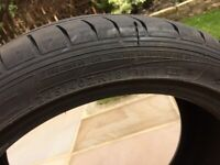 Dunlop 245/40 ZR18 tyre - almost new