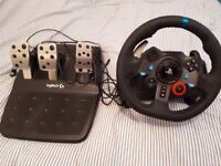 Logitech G29 wheel and Pedals PS4/PC