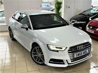 2016 AUDI S3 2.0 SPORTBACK TFSI QUATTRO 5DR +SAT NAV +LEATHER HEATED +FREE DELIVERY TO YOUR DOOR