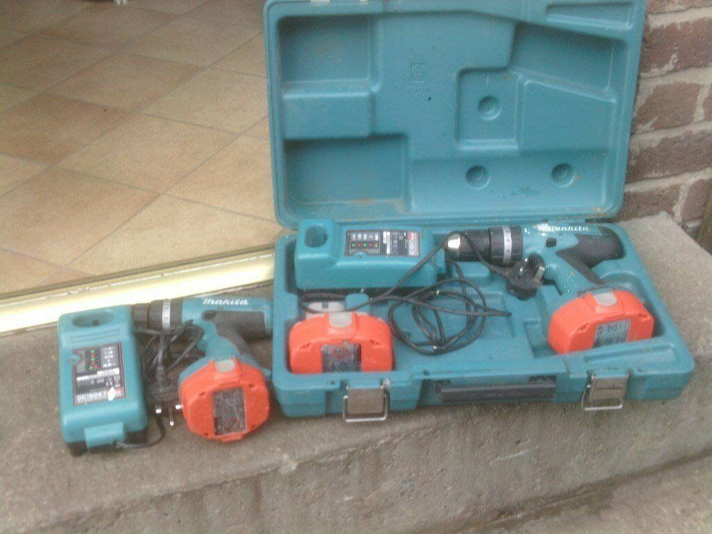 MAKITA DRILLS WITH CHARGERS £30 AND £35