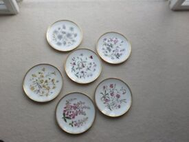 set of six Spode decorative plates...all in very good condition.....no chips